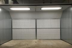 Ściana lakiernicza z 2 punktami świetlnymi