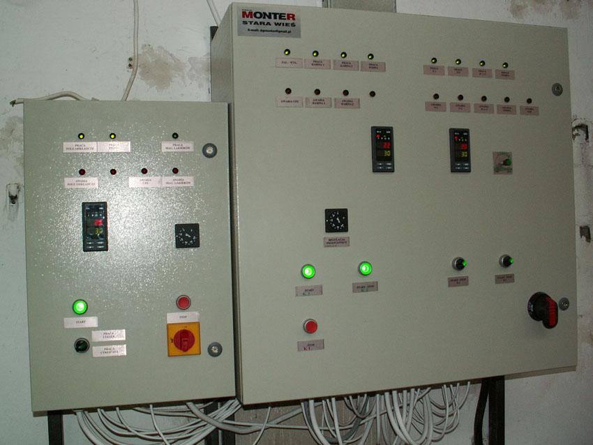 panel sterujący